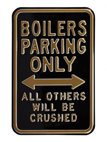 Purdue Boilermakers NCAA Embossed Parking Sign
