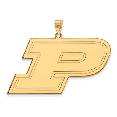 Purdue Boilermakers NCAA Sterling Silver Gold Plated Extra Large Pendant