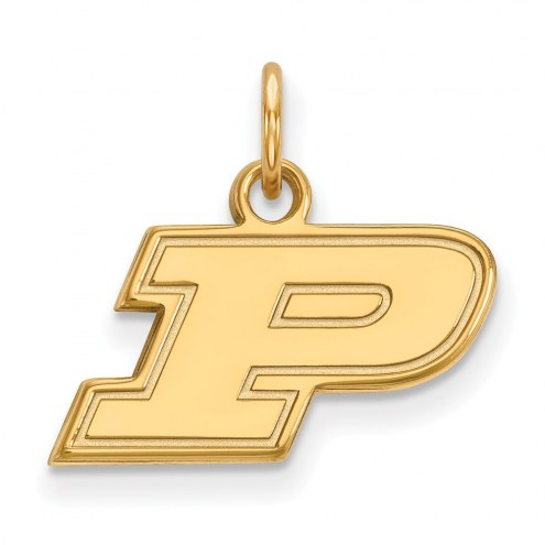 Purdue Boilermakers NCAA Sterling Silver Gold Plated Extra Small Pendant