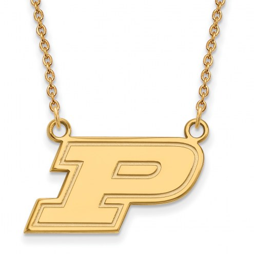 Purdue Boilermakers NCAA Sterling Silver Gold Plated Small Pendant Necklace
