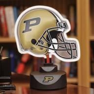 Purdue Boilermakers Neon Helmet Desk Lamp