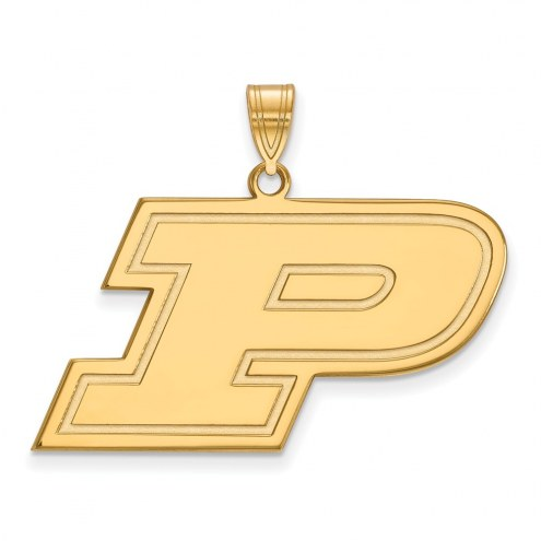 Purdue Boilermakers NCAA Sterling Silver Gold Plated Large Pendant