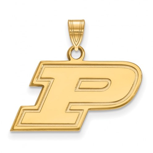 Purdue Boilermakers NCAA Sterling Silver Gold Plated Small Pendant