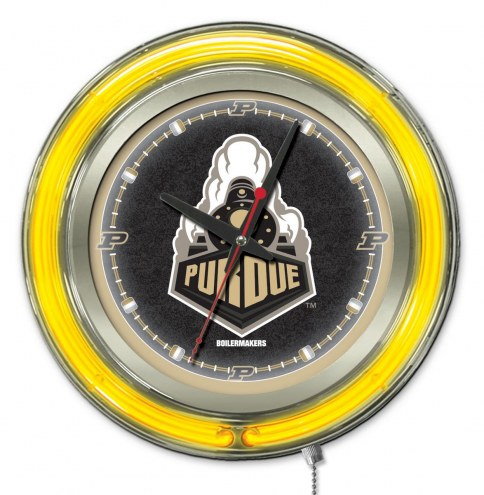 Purdue Boilermakers Neon Clock