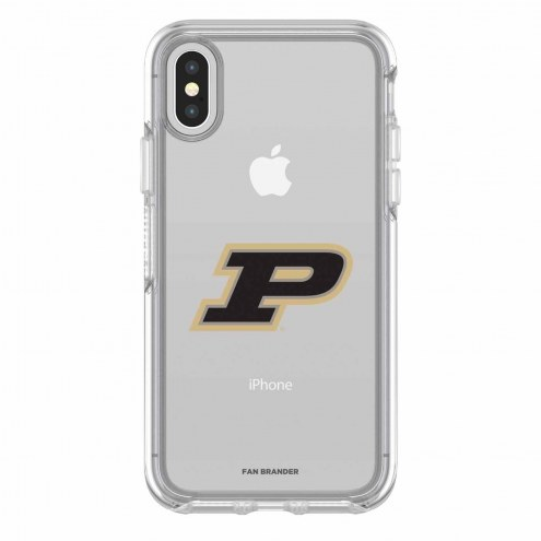 Purdue Boilermakers OtterBox iPhone X Symmetry Clear Case