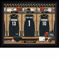 Purdue Boilermakers Personalized Basketball Locker Room 11 x 14 Framed Photograph