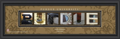 Purdue Boilermakers Personalized Campus Letter Art