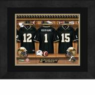 Purdue Boilermakers Personalized Locker Room 13 x 16 Framed Photograph