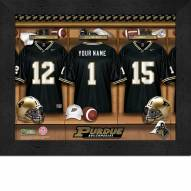 Purdue Boilermakers Personalized Locker Room 11 x 14 Framed Photograph