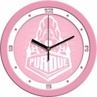 Purdue Boilermakers Pink Wall Clock
