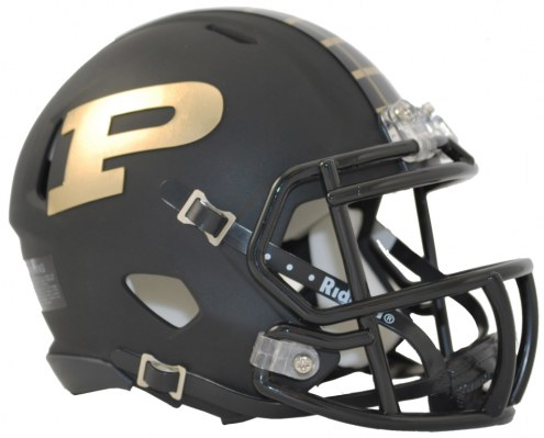 Purdue Boilermakers Riddell Speed Mini Collectible Matte Football Helmet