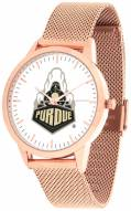Purdue Boilermakers Rose Mesh Statement Watch
