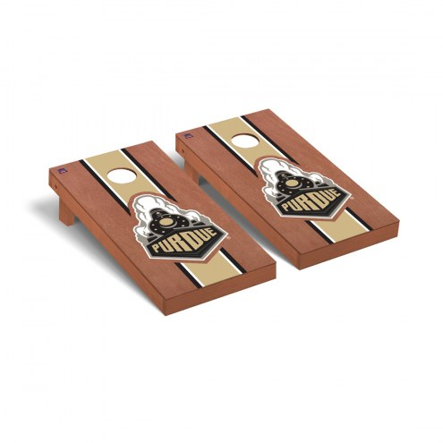 Purdue Boilermakers Rosewood Stained Cornhole Game Set