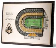 Purdue Boilermakers 5-Layer StadiumViews 3D Wall Art