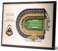 Purdue Boilermakers 5-Layer StadiumViews 3D Wall Art