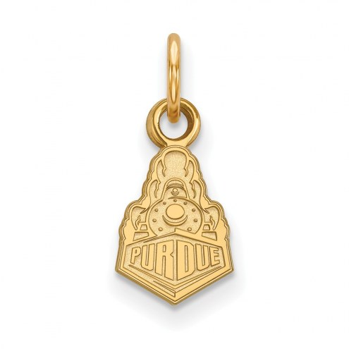Purdue Boilermakers Sterling Silver Gold Plated Extra Small Pendant