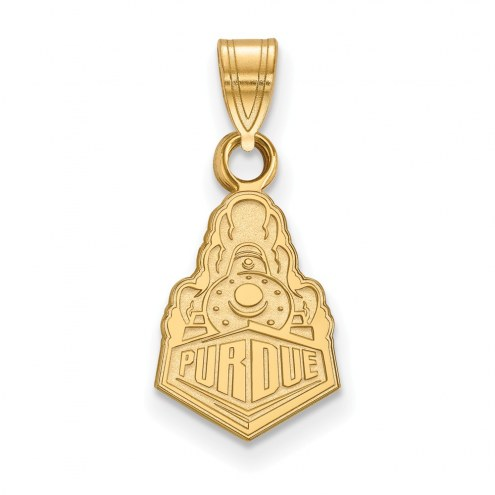 Purdue Boilermakers Sterling Silver Gold Plated Small Pendant