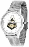 Purdue Boilermakers Silver Mesh Statement Watch
