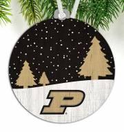 Purdue Boilermakers Snow Scene Ornament