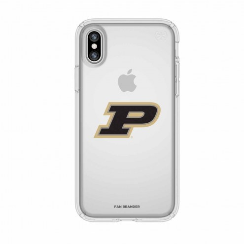 Purdue Boilermakers Speck iPhone X Presidio Clear Case