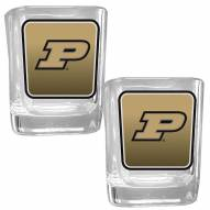 Purdue Boilermakers Square Glass Shot Glass Set