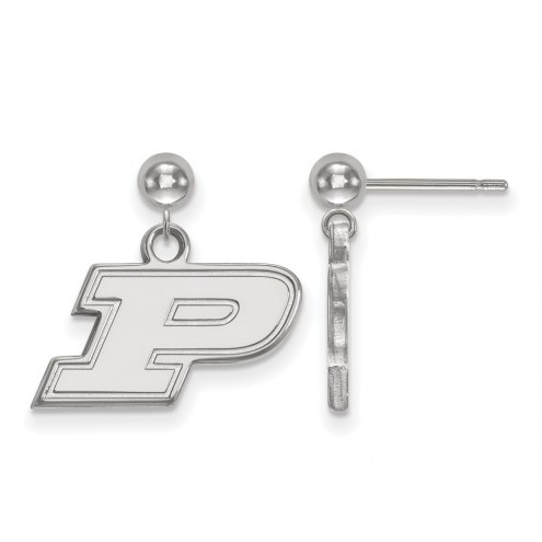 Purdue Boilermakers Sterling Silver Dangle Ball Earrings