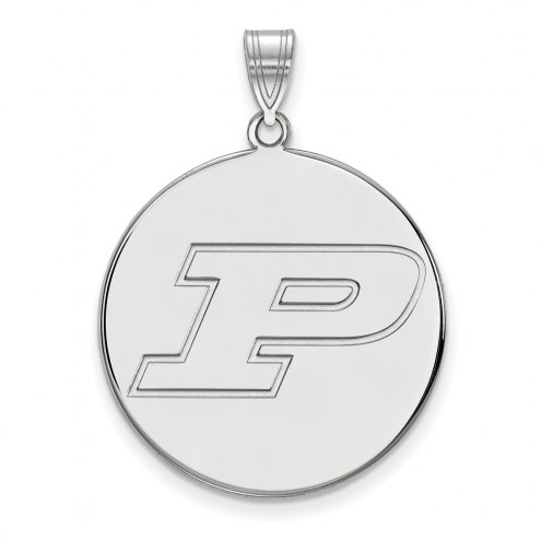 Purdue Boilermakers Sterling Silver Extra Large Disc Pendant
