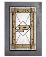 Purdue Boilermakers Stained Glass with Frame