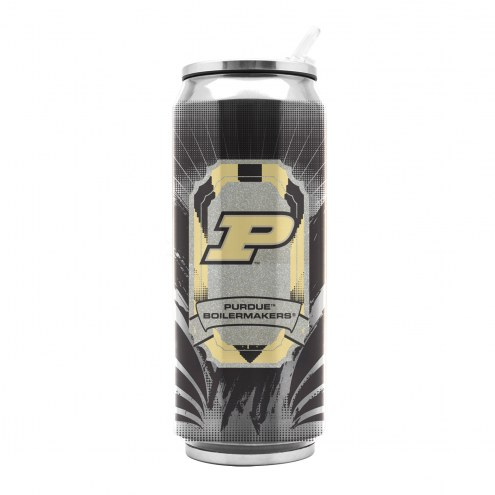 Purdue Boilermakers Stainless Steel Thermo Can