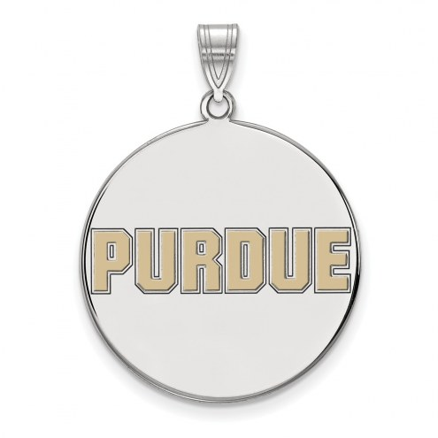 Purdue Boilermakers Sterling Silver Extra Large Enameled Disc Pendant