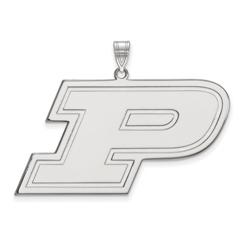 Purdue Boilermakers Sterling Silver Extra Large Pendant