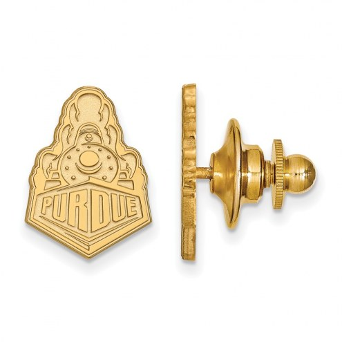 Purdue Boilermakers Sterling Silver Gold Plated Lapel Pin