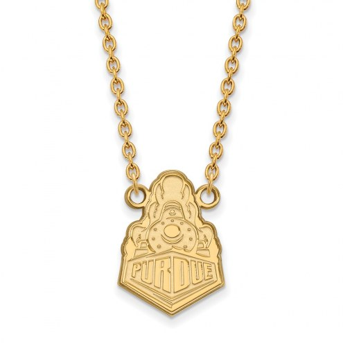 Purdue Boilermakers Sterling Silver Gold Plated Large Pendant Necklace