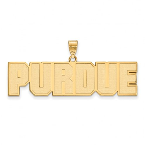 Purdue Boilermakers Sterling Silver Gold Plated Large Pendant