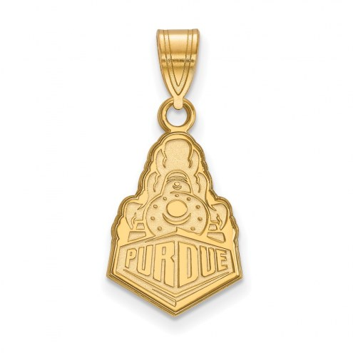Purdue Boilermakers Sterling Silver Gold Plated Medium Pendant