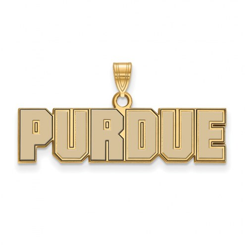 Purdue Boilermakers Sterling Silver Gold Plated Small Enameled Pendant