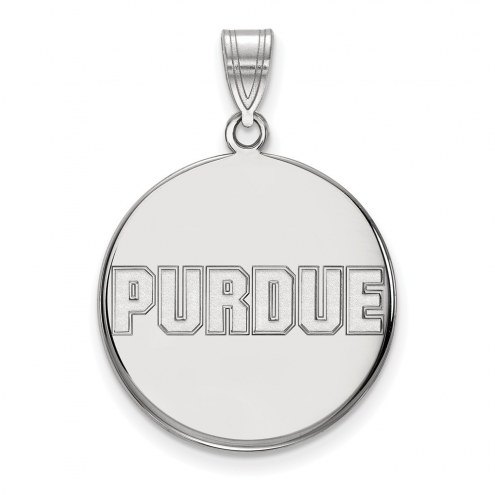 Purdue Boilermakers Sterling Silver Large Disc Pendant