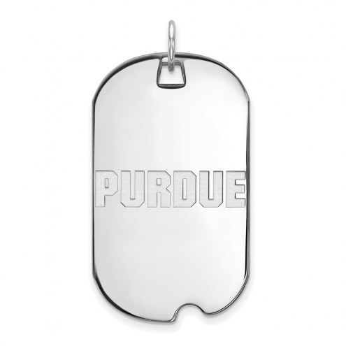 Purdue Boilermakers Sterling Silver Large Dog Tag