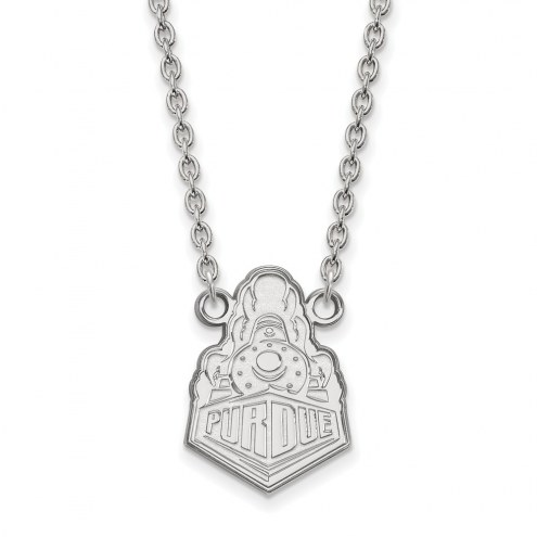 Purdue Boilermakers Sterling Silver Large Pendant Necklace
