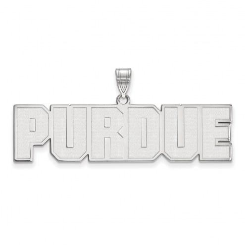 Purdue Boilermakers Sterling Silver Large Pendant