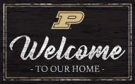 Purdue Boilermakers Team Color Welcome Sign