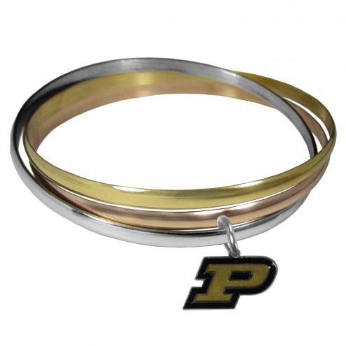 Purdue Boilermakers Tri-color Bangle Bracelet