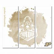 Purdue Boilermakers Triptych Watercolor Canvas Wall Art