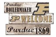 Purdue Boilermakers Welcome 3 Plank Sign
