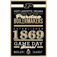 Purdue Boilermakers Established Wood Sign