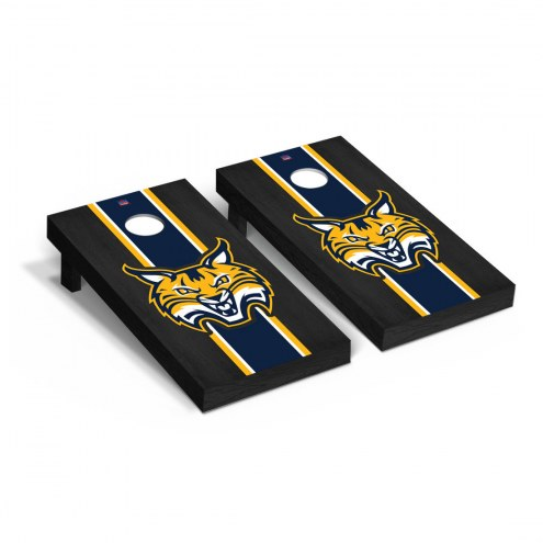 Quinnipiac Bobcats Onyx Stained Cornhole Game Set