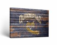 Quinnipiac Bobcats Weathered Canvas Wall Art