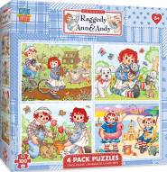Raggedy Ann & Andy 100 Piece Puzzle - 4 Pack