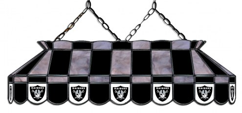 "Las Vegas Raiders NFL Team 40"" Rectangular Stained Glass Shade"