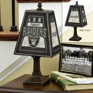Oakland Raiders NFL Hand-Painted Art Glass Table Lamp